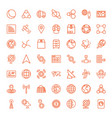 49 global icons vector image vector image