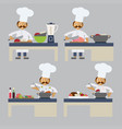 a chef cooking vector image vector image