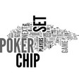 a great poker chip set a must have for your next vector image vector image
