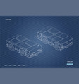 airplane towing vehicle in isometric style vector image vector image
