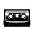Audio cassette design element for logo label