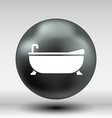 Bathtub bath icon button logo symbol concept vector image vector image