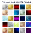 big set colorful triangular backgrounds vector image