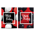 black friday sale set vertical posters or vector image