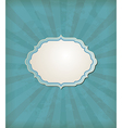 Blue vintage background with label vector image vector image