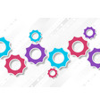 bright abstract tech gears mechanism background vector image vector image