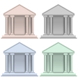 Building bank icons vector image vector image