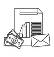 business office and marketing in black and white vector image