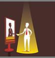 businessmen virtual meeting concept design vector image vector image