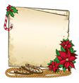 Christmas background with horseshoe and paper for vector image vector image