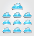 Cloud icon button set for website and app vector image vector image