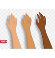 collection of hands with computer mouse vector image vector image