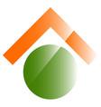 conceptual real estate icon logo home button vector image vector image