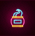 cream neon sign vector image