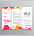 creative circles tri fold brochure template vector image vector image