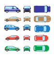 different transportation car sedan car hatchback vector image vector image