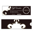 elegant discount gift voucher is brown with white vector image vector image