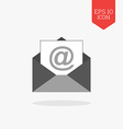Email icon Flat design gray color symbol Modern UI vector image vector image
