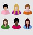 female icon set vector image
