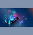 fingerprint wi-fi smartphones futuristic smart vector image vector image