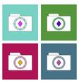 Flat icon design collection casino chip on folder