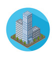 Flat isometric city real estate icon vector image vector image
