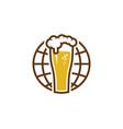 globe beer logo icon design vector image vector image