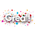 Great paper banner vector image vector image