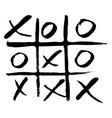 hand drawn noughts and crosses vector image vector image