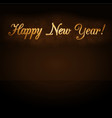 happy new year background golden text for card vector image vector image