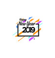 happy new year logo banner vector image vector image