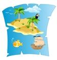 Island on card vector image