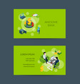 isometric money flow in bank business card vector image