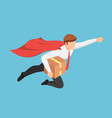 isometric super businessman flying fast vector image