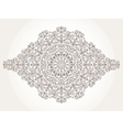 Mandala pattern elementSwirlsrevivalethnic vector image vector image
