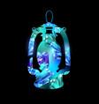 miner lantern vector image