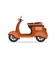 old style motorbike isolated icon vector image vector image