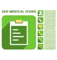 Pad Text Icon and Medical Longshadow Icon Set vector image