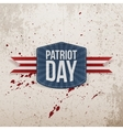 Patriot Day realistic Tag with Ribbon vector image vector image