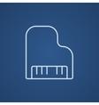 Piano line icon vector image vector image