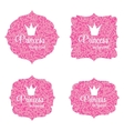 Princess Crown Frame vector image vector image