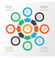 project icons set with workspace project planning vector image vector image