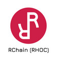 rchain rhoc crypto coin ic vector image vector image