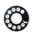 rotary phone dial vector image vector image