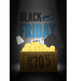 save 70 percent black friday sale poster template vector image