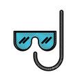 scribble mask and snorkel cartoon vector image vector image