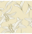 seamless texture stem lily flower lilium candidum vector image