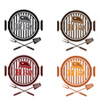 set bbq labels design template vector image vector image
