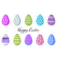set colorful easter eggs vector image vector image