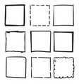 set doodle boxes with hand drawn style isolated vector image vector image